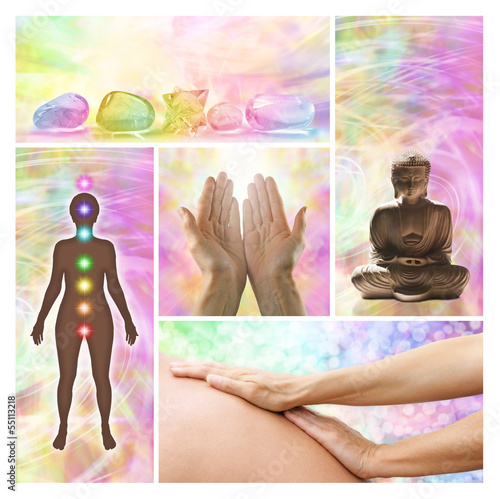 Photo  Holistic healing therapy collage