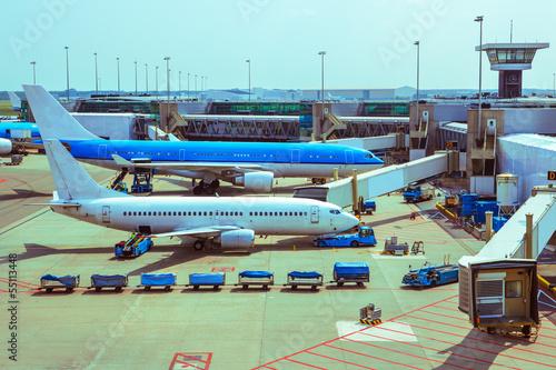 Foto op Aluminium Luchthaven Aircrafts ground handling