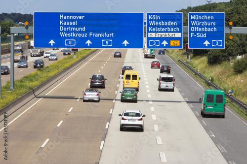 German Autobahn Canvas Print