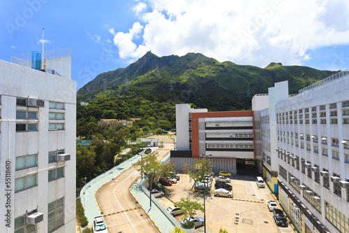 Photo  Buildings along mountain in Hong Kong