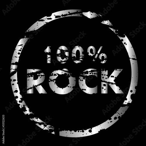 Sticker - 100% Rock Vektor