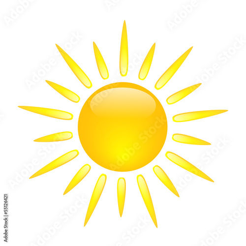 Sun Icon Sunny Spells Clouds Weather Forecast Symbols Icons Buy