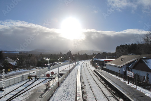 Aviemore Train Station Canvas Print