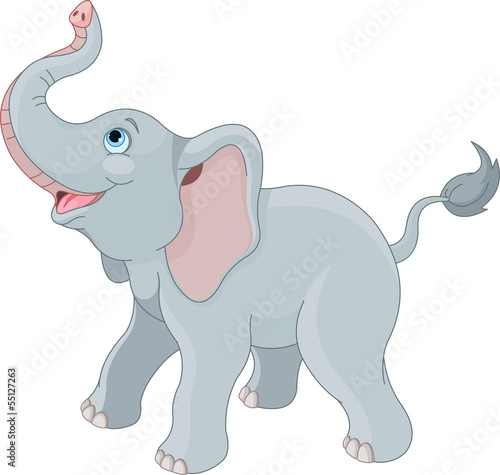 Printed kitchen splashbacks Fairytale World Cute elephant