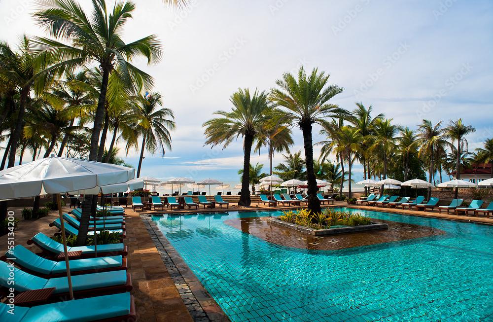 Fototapety, obrazy: Travel pool resort
