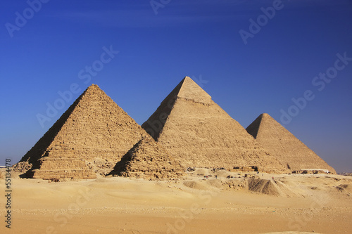 Spoed Foto op Canvas Egypte Pyramids of Giza, Cairo