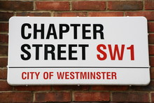 Chapter Street A Famous London Road Sign