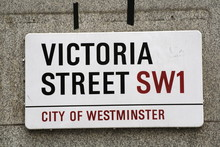 Victoria Street A Famous Street Sign In London