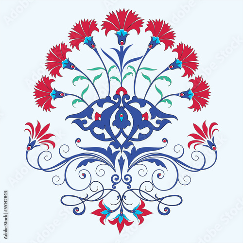 Fotografia  traditional ottoman carnation chine design