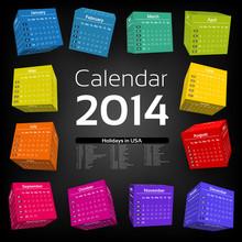 3d Cube Calendar 2014