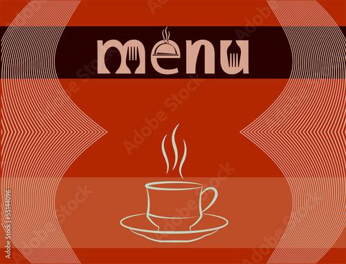 Fototapeta Menu Card Design Template obraz na płótnie