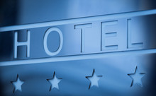 Hotel Metallic Sign