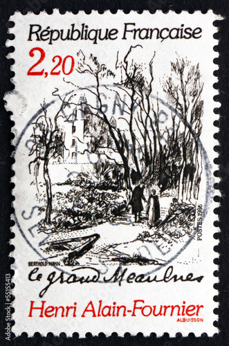 Postage stamp France 1986 Scene from Le Grand Meaulnes Canvas Print