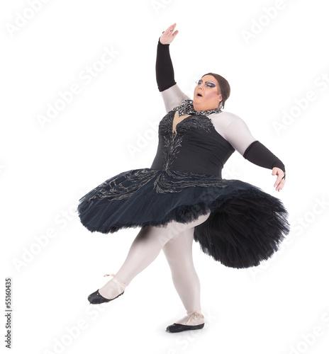 Fotografie, Obraz  Drag queen dancing in a tutu