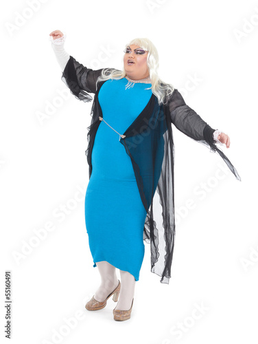 Valokuvatapetti Drag queen dressed as a female singer