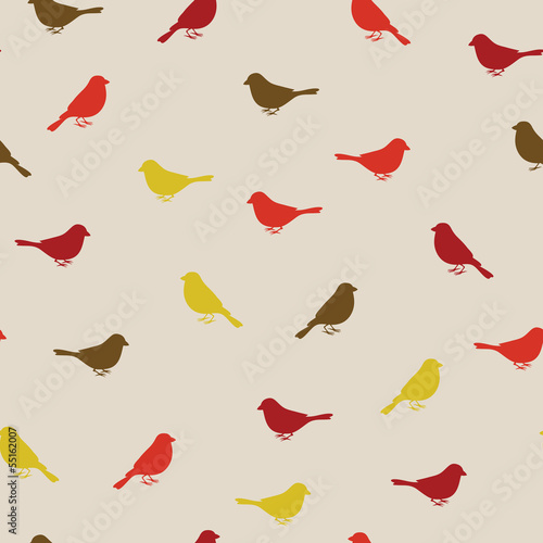 Aufkleber - Birds seamless pattern. Colorful texture