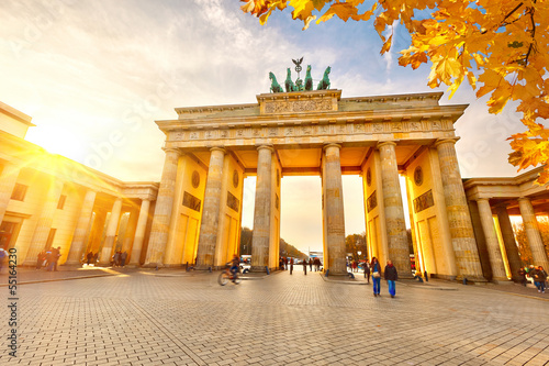 Photo  Brandenburg gate at sunset