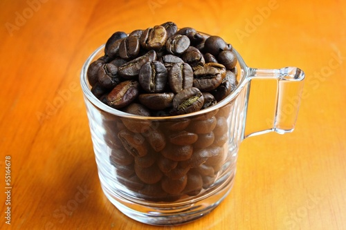 Canvas Prints Coffee beans coffee beans in the glass for sale