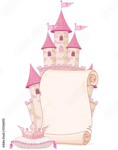 Poster Magie Fairy tale theme parchment