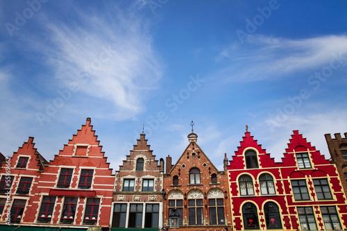 Poster Brugge street in Brugge, Bruges, Belgium