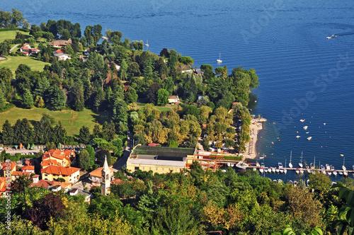 Fotografie, Obraz  Il Lago Maggiore a Solcio e Lesa