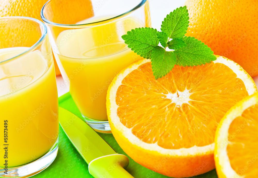 Fototapety, obrazy: Orangensaft