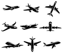 Airplane Collection. Vector