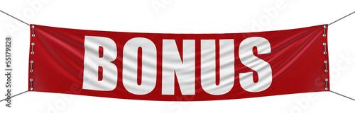 Fototapeta Bonus Banner (clipping path included) obraz