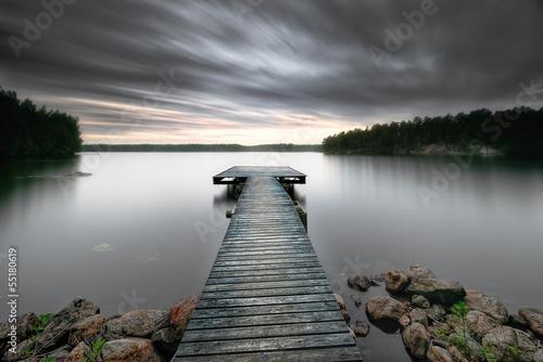 Aluminium Prints Dark grey Magic lake