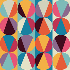 Panel Szklany Ornamenty Vector geometric pattern of circles and triangles. Colored circl