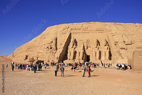 Fotografie, Obraz  The Great temple of Abu Simbel, Nubia