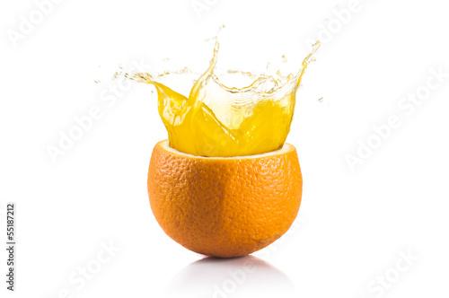 Spoed Foto op Canvas Opspattend water Orange Fruit