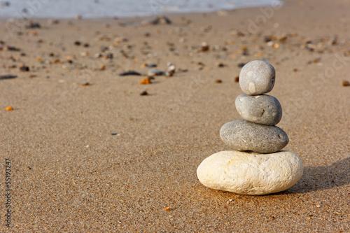 Photo sur Plexiglas Zen pierres a sable Plage Zen