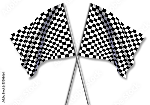 Fotografía  Two large Checkered Flag