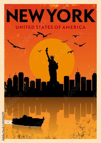 Vintage New York Poster