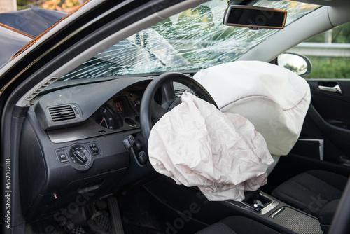 Unfall - Airbag Canvas Print