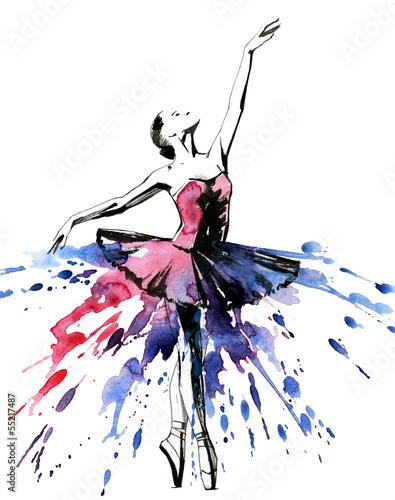 Foto auf Leinwand Gemälde ballerina