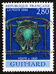 Postage stamp France 1994 Cast Iron, c.1900, by Hector Guimard