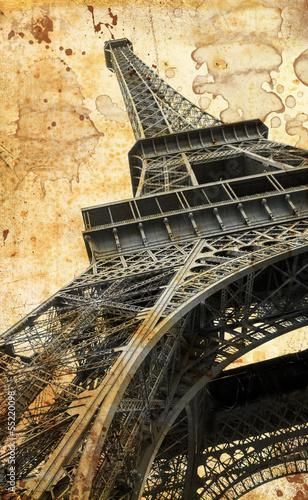 Plakat na zamówienie Tour Eiffel in vintage