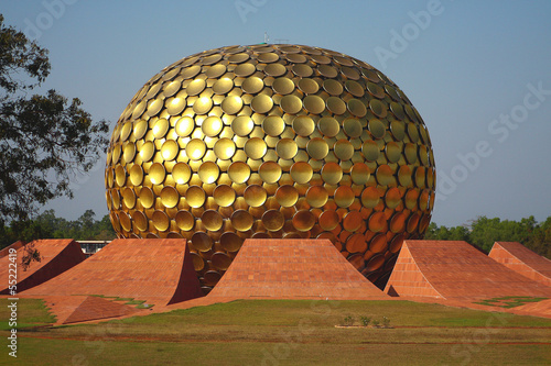 Photo Matrimandir in Auroville, India