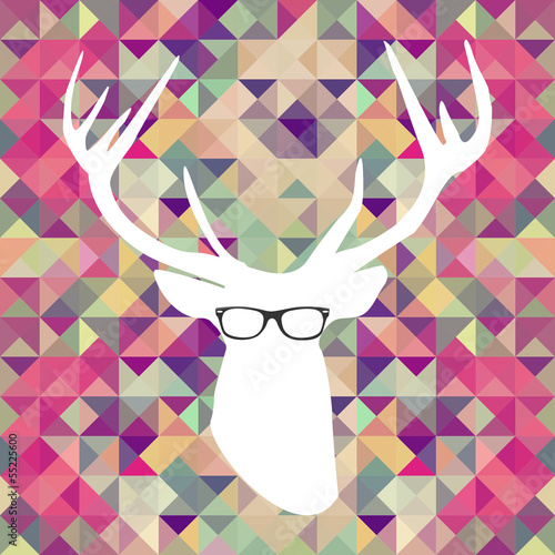 Retro hipsters elements.
