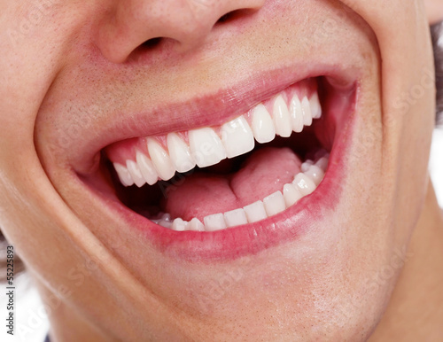 Fotografía  Awesome healthy teeth over white background