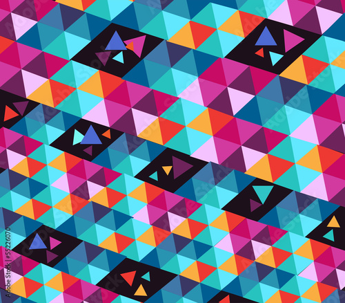 Poster ZigZag Trendy hipster geometric elements.