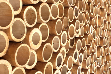 Fototapeta Bamboo wall in Gili Islands
