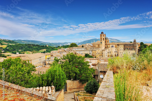 Valokuva View of the medieval town of Urbino