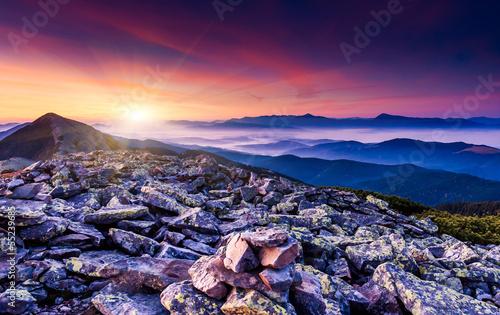 Foto op Plexiglas Crimson sunset