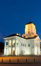 Night Belarus Minsk Town Hall ...
