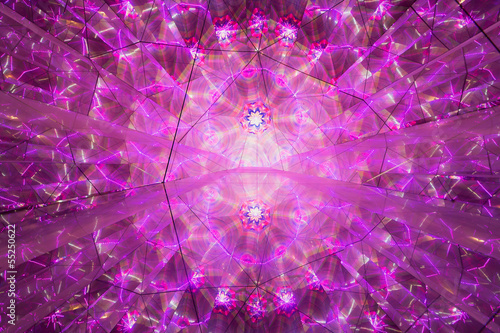 abstract geometric pattern obtained by endless mirror reflect buy