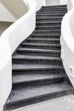Fototapeta Na drzwi - black stairs