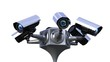 total control, rotating surveillance cameras, seamless loop